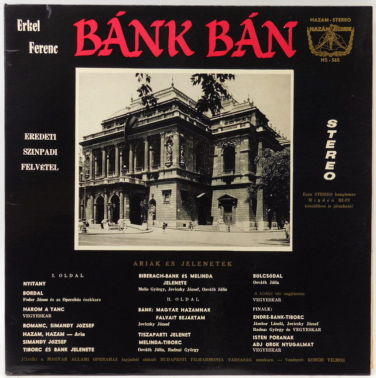 Various Artists: Erkel Ferenc's Bank Ban - LP Vinyl Record Album