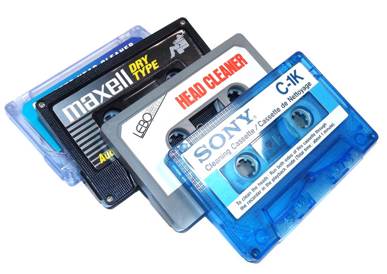 Audio Cassette Tape Player Head Cleaning Tape - Assorted Randomly Chosen Brand Head Cleaner