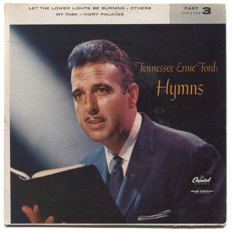 "Tennessee Ernie Ford: Hymns, Part 3 - 7"" EP 45 rpm Record"
