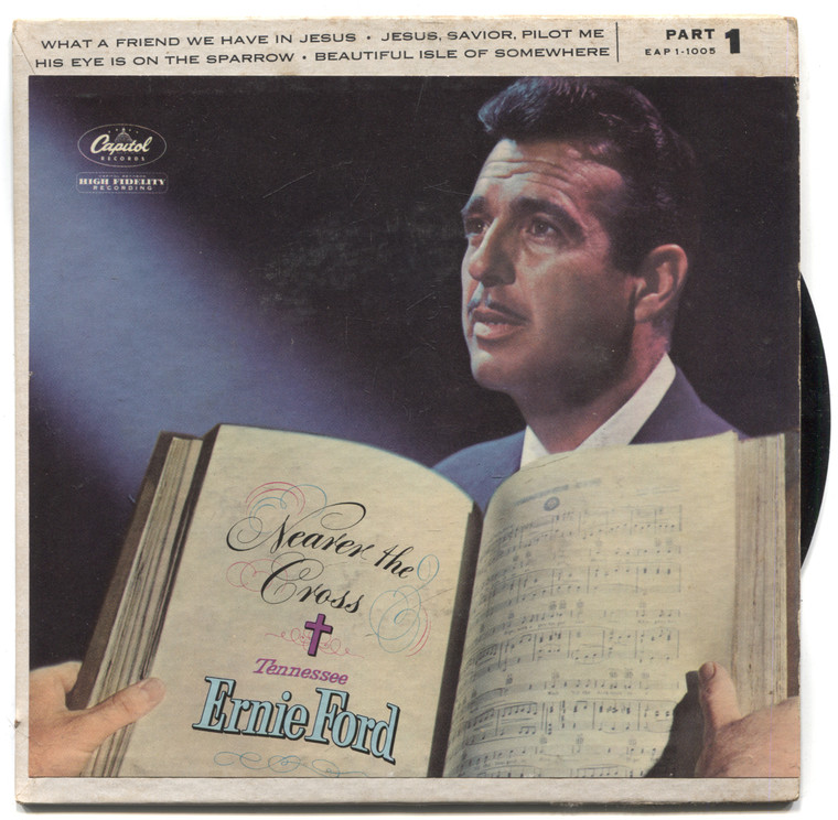 "Tennessee Ernie Ford: Hymns, Part 1 - 7"" EP 45 rpm Record"