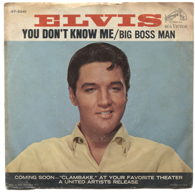 Elvis Presley: Big Boss Man / You Don't Know Me 45 rpm Record & Picture Sleeve