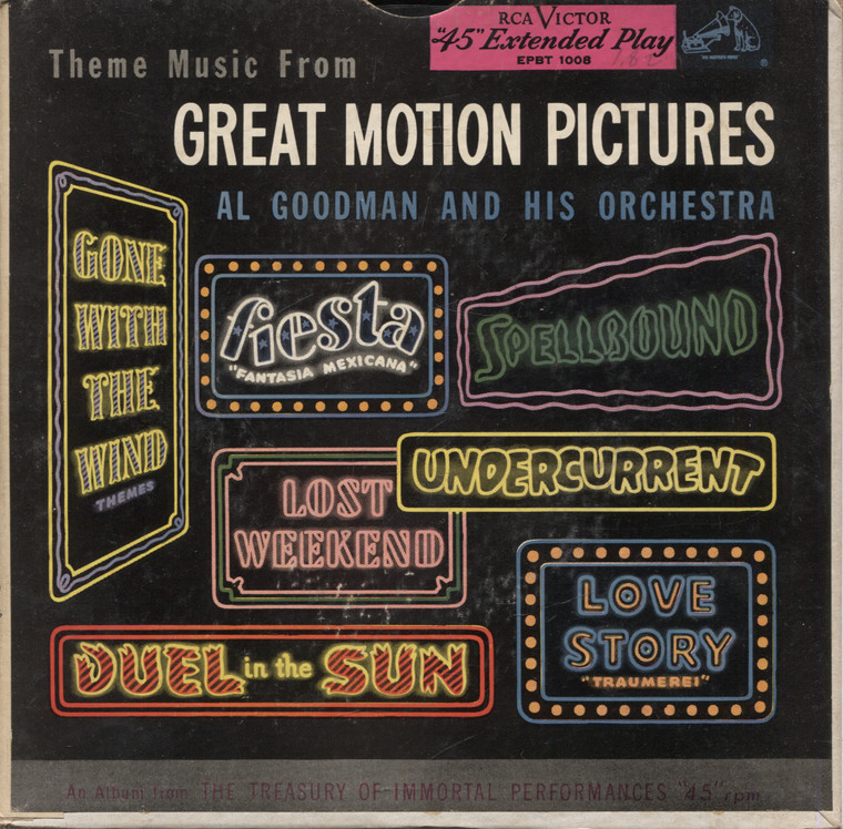 """Al Goodman & Orchestra: Theme Music from Great Motion Pictures (2 Record Set)- 7"""" EP 45 rpm Record"""