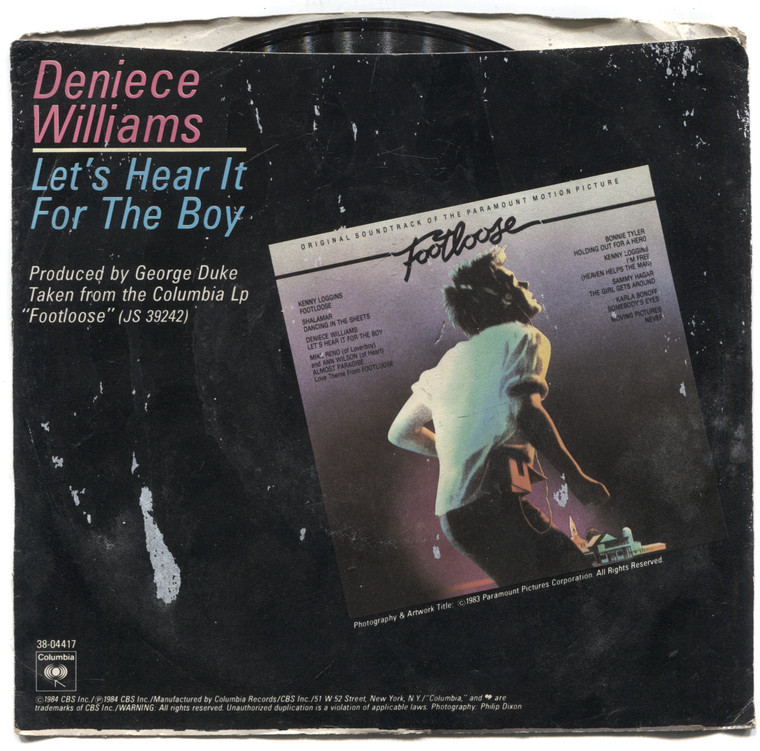 "Deniece Williams: Let's Hear It for the Boy / Instrumental - 7"" 45 rpm Vinyl Record & Picture Sleeve"
