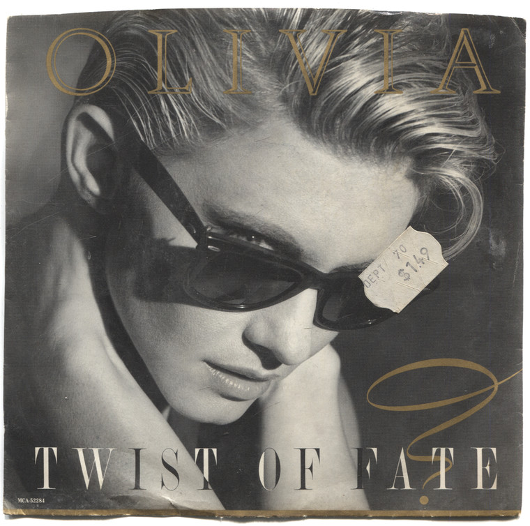 """Olivia Newton-John: Twist of Fate / Take a Chance - 7"""" 45 rpm Vinyl Record & Picture Sleeve"""