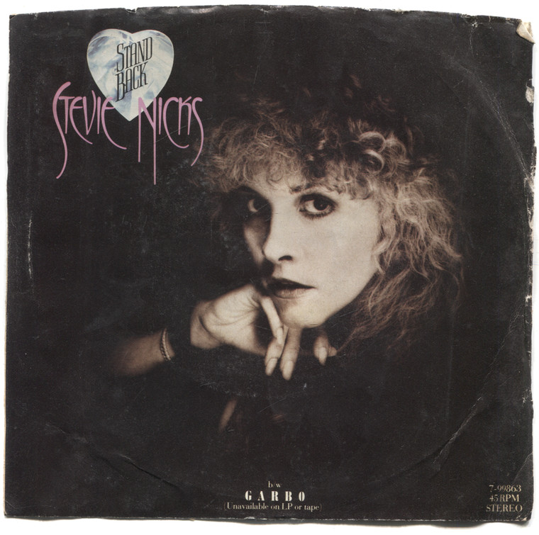 """Stevie Nicks: Garbo / Stand Back - 7"""" 45 rpm Vinyl Record & Picture Sleeve"""