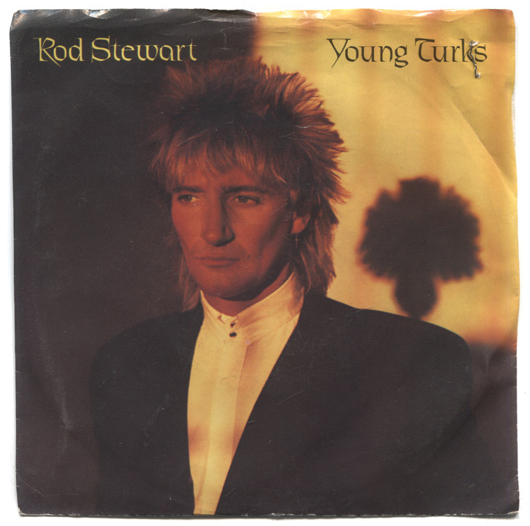 """Rod Stewart: Young Turks / Sonny- 7"""" 45 rpm Vinyl Record & Picture Sleeve"""