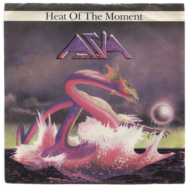 "Asia: Heat of the Moment / Ride Easy - 7"" 45 rpm Vinyl Record & Picture Sleeve"
