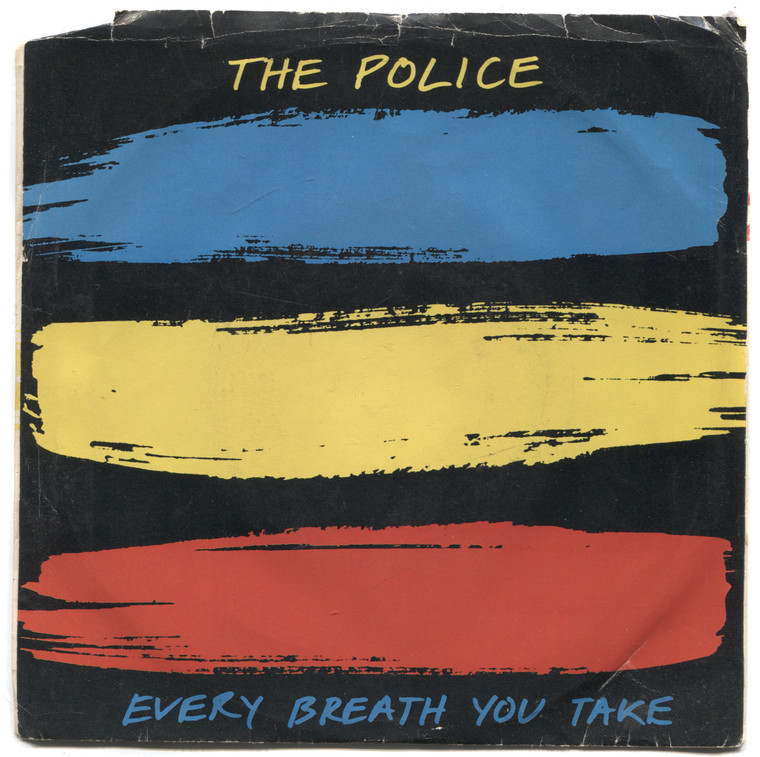 """The Police: Every Breath You Take / Murder by Numbers - 7"""" 45 rpm Vinyl Record & Picture Sleeve"""
