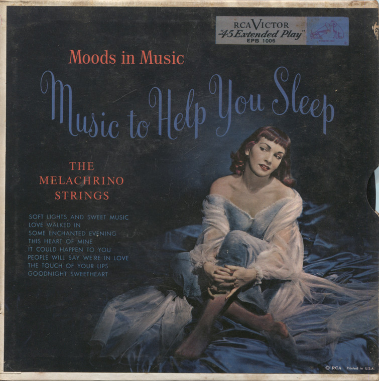 """Melachrino Strings: Moods in Music, Music to Help You Sleep - 7"""" EP 45 rpm Vinyl Record & Picture Sleeve"""