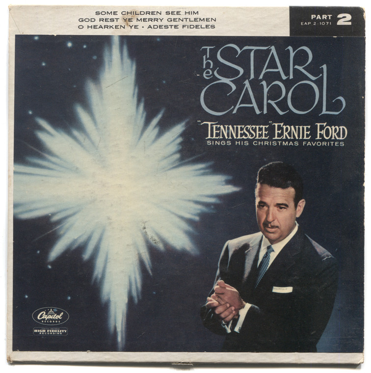 """Tennessee Ernie Ford: The Star Carol, Part 2 - 7"""" EP 45 rpm Vinyl Record & Picture Sleeve"""