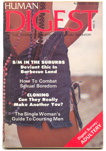 1976 August Human Digest Magazine Vintage Adult Magazine