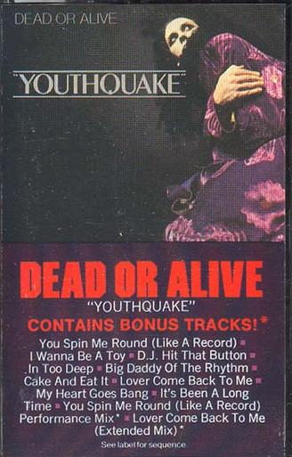Dead Or Alive Youthquake Cassette Tape