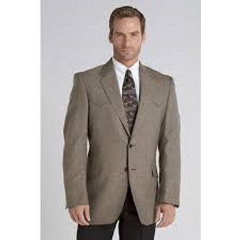 Circle S Tweed Tan Plano Sports Coat