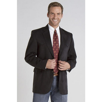 Circle S Black Micro Suede Houston Style Sports Coat