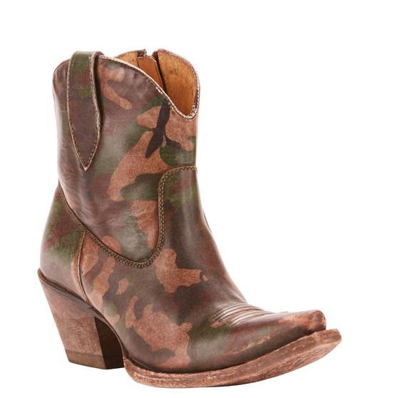 Ariat Ladies Circuit Cruz Distressed Camo Ankle Boots