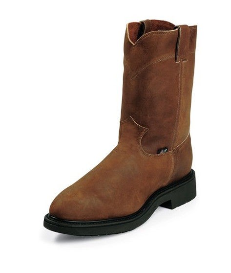 Justin Round Toe Work Boots