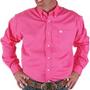 Cinch Solid Pink Long Sleeve Button Shirt