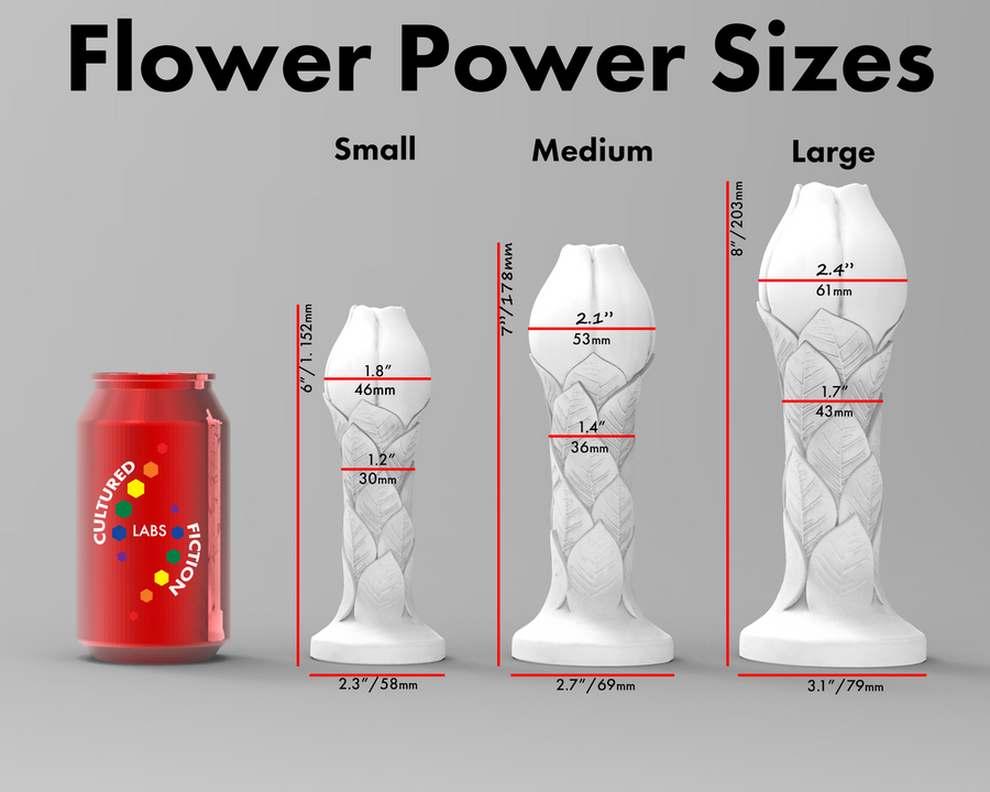 Flower Power Medium/Medium (Firmness) -Silicone Dildo 1462