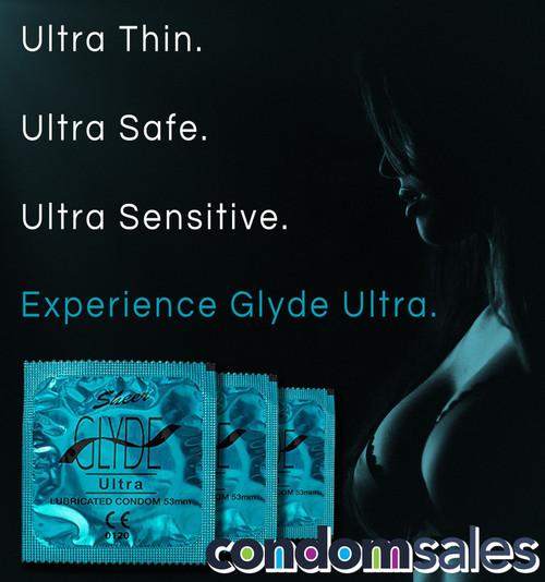 Glyde Ultra 53mm Condoms 100 Bulk - Buy Bulk Condoms Online