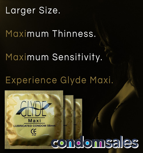 Glyde Maxi 56mm Condoms (24 loose packed) - Buy Condoms Online