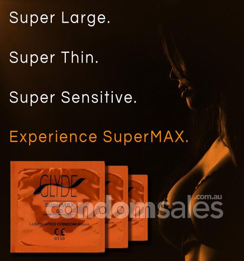 Glyde SuperMax 60mm Condoms (24 loose packed) - Buy Condoms Online