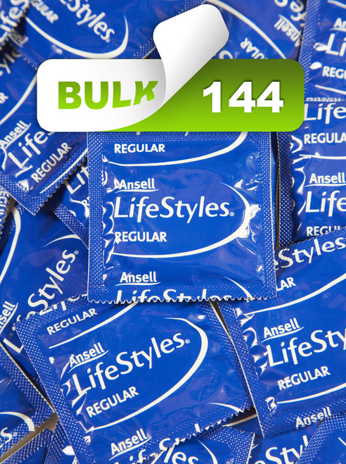 Ansell Lifestyles Regular Condoms (144 Bulk) - Buy Bulk Condoms Online