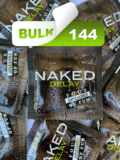 Four Seasons Naked Delay Condoms (144 Bulk)