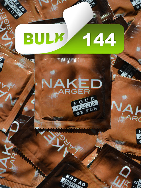 Four Seasons Naked Larger 60mm Condoms (144 Bulk) - Buy Bulk Condoms Online