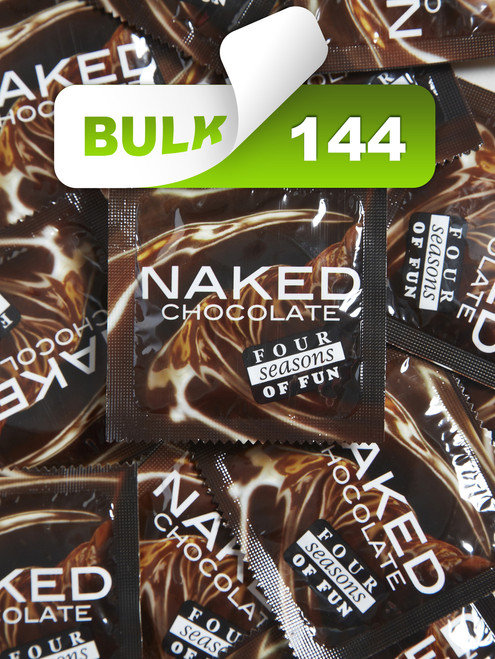 Four Seasons Naked Chocolate Condoms (144 Bulk) - Buy Bulk Condoms Online