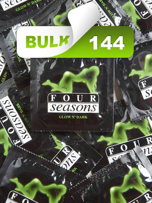 Four Seasons Glow N' Dark Condoms (144 Bulk) - Buy Bulk Condoms Online