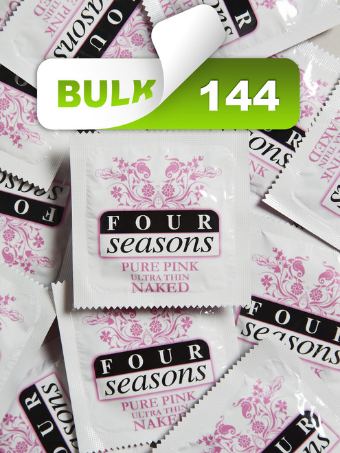 Four Seasons Pure Pink Condoms (144 Bulk) - Buy Bulk Condoms Online