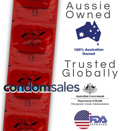 Glyde Slim Fit 49mm Condoms (100 Bulk)  - Buy Bulk Condoms Online