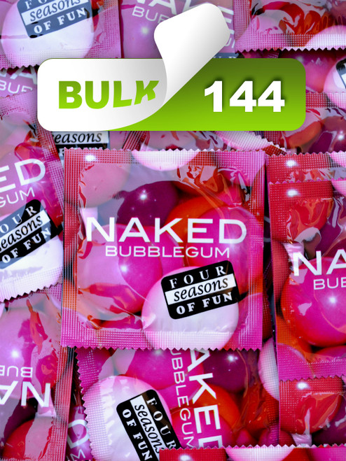 Four Seasons Naked Bubblegum Condoms (144 Bulk)  - Buy Bulk Condoms Online