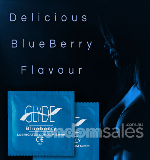 Glyde Blueberry Flavoured Condoms (100 Bulk Pack)