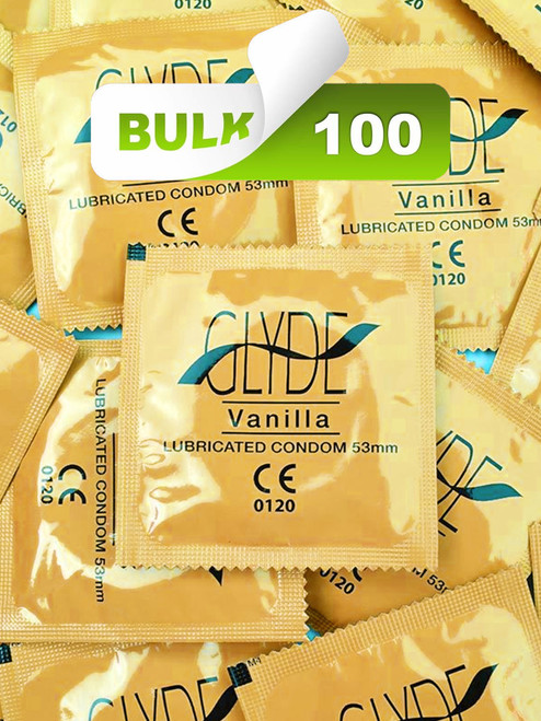 Glyde Vanilla Condoms (100 Bulk) - Buy Bulk Condoms Online