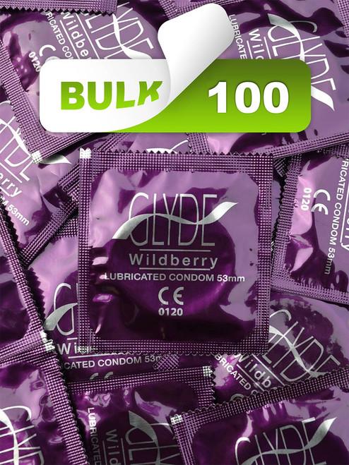 Glyde Wildberry Condoms (100 Bulk) - Buy Bulk Condoms Online