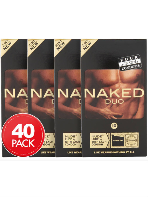 Four Seasons Naked Duo Condoms Bulk 40