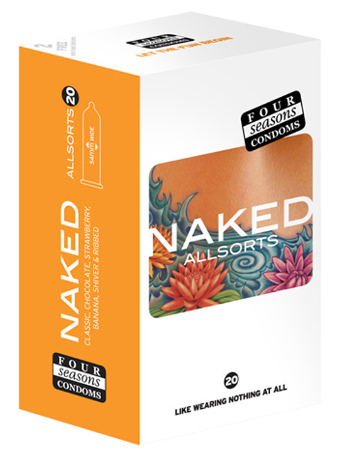 Four Seasons Naked Allsorts 20 Pack  - Buy Condoms Online