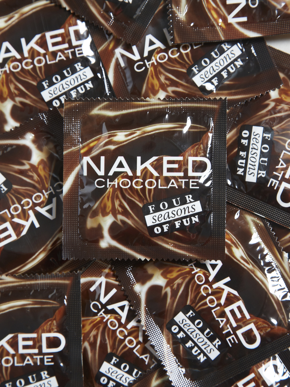 Four Seasons Naked Chocolate Condoms (24 loose packed)  - Buy Condoms Online
