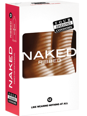 Four Seasons Naked Ribbed Condoms 12 Pack - Buy Condoms Online