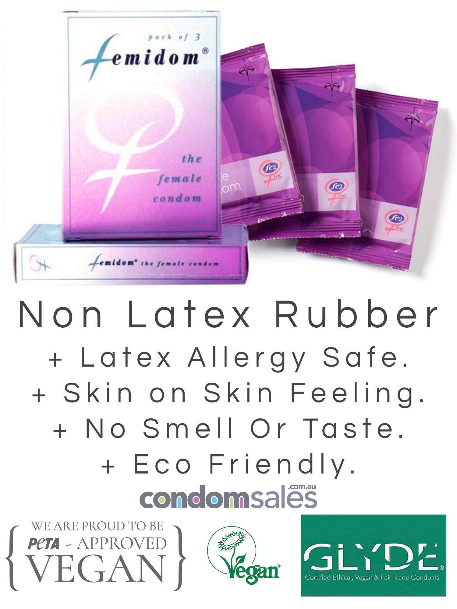 Femidom Female Condom 3 Pack - Buy Female Condoms Online