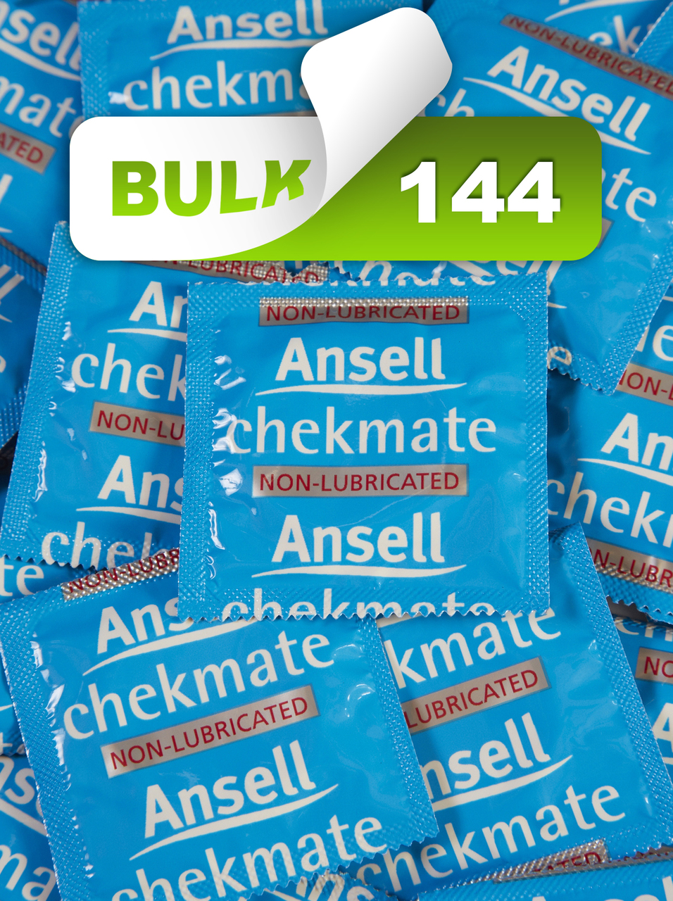 Ansell Chekmate Non-Lubricated Condoms Bulk