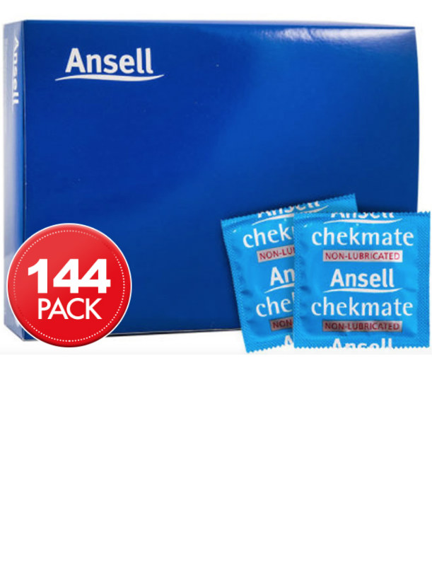 Ansell Chekmate Non-Lubricated Condoms (144 Bulk)