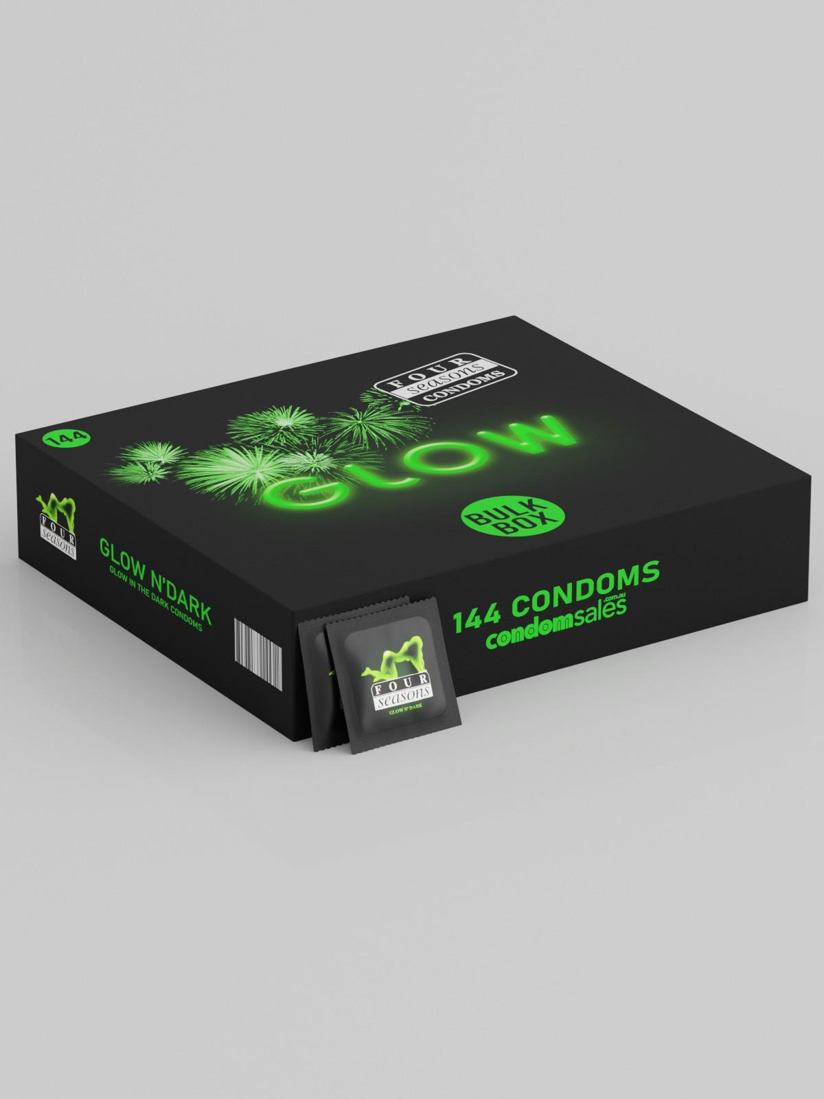 Four Seasons Glow N' Dark Condoms (144 Bulk) - Buy Bulk Condoms Online