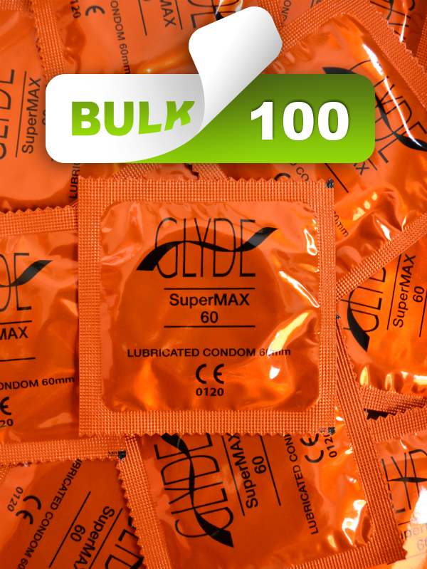 Glyde SuperMax XXL Large 60mm Condoms 100 Bulk  - Buy Bulk Condoms Online