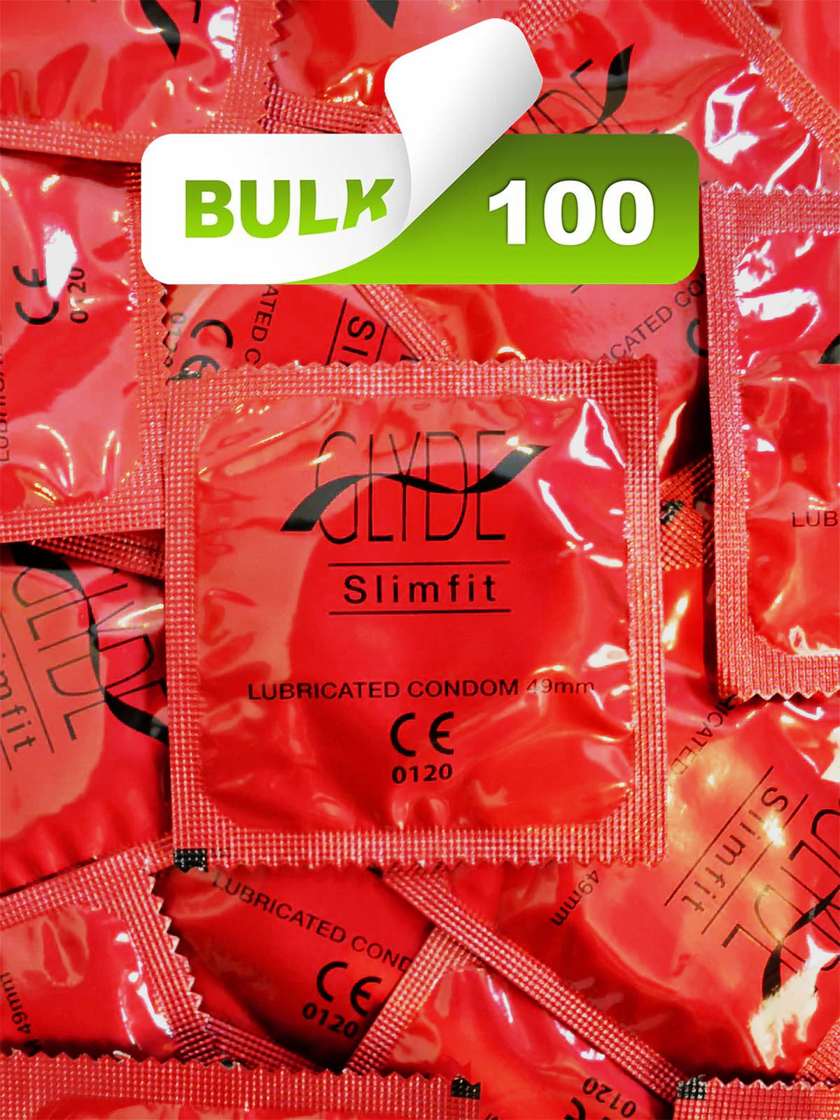 Glyde Slim Fit 49mm Condoms (100 Bulk)  - Buy Bulk Condoms Online