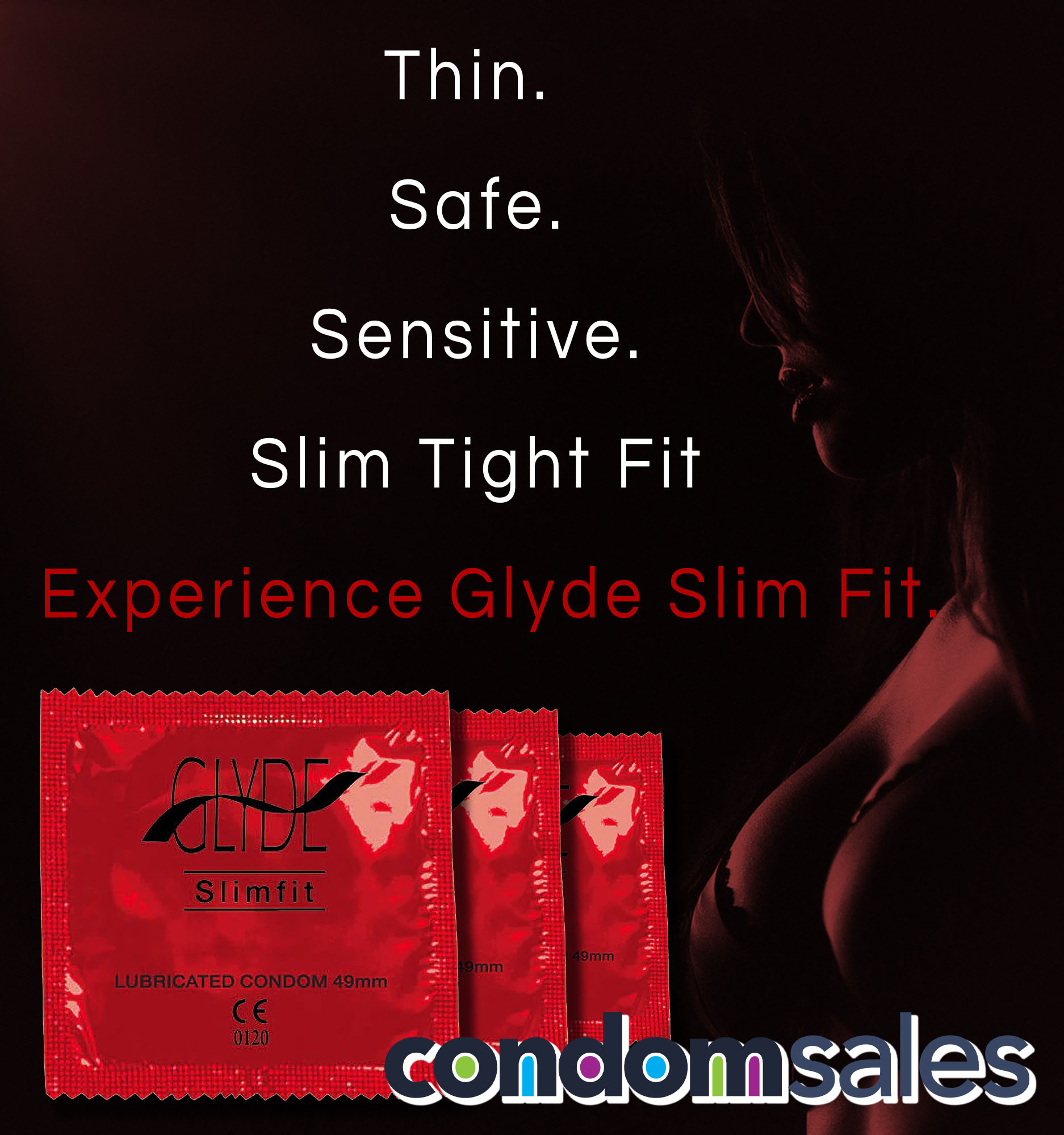 Glyde Slim Fit 49mm Small Condoms (100 Bulk Pack)