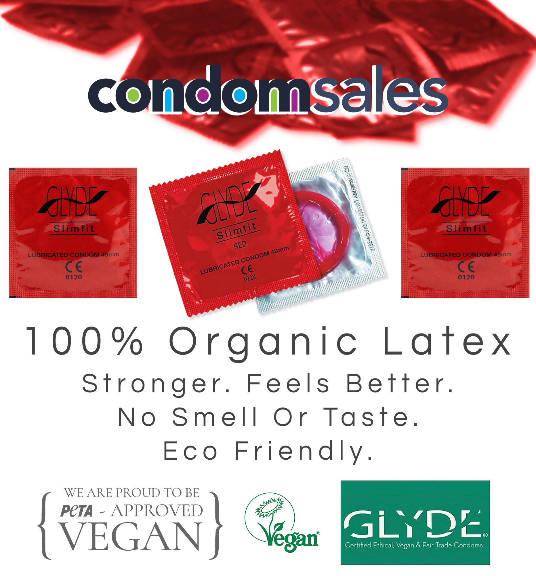 Glyde Slim Fit 49mm Small Condoms (100 Bulk Pack)