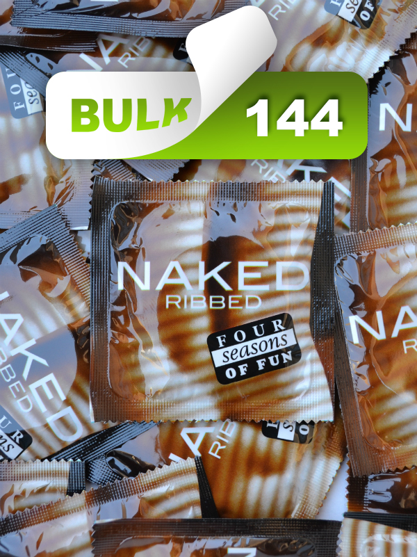 Four Seasons Naked Ribbed Condoms (144 Bulk)  - Buy Bulk Condoms Online