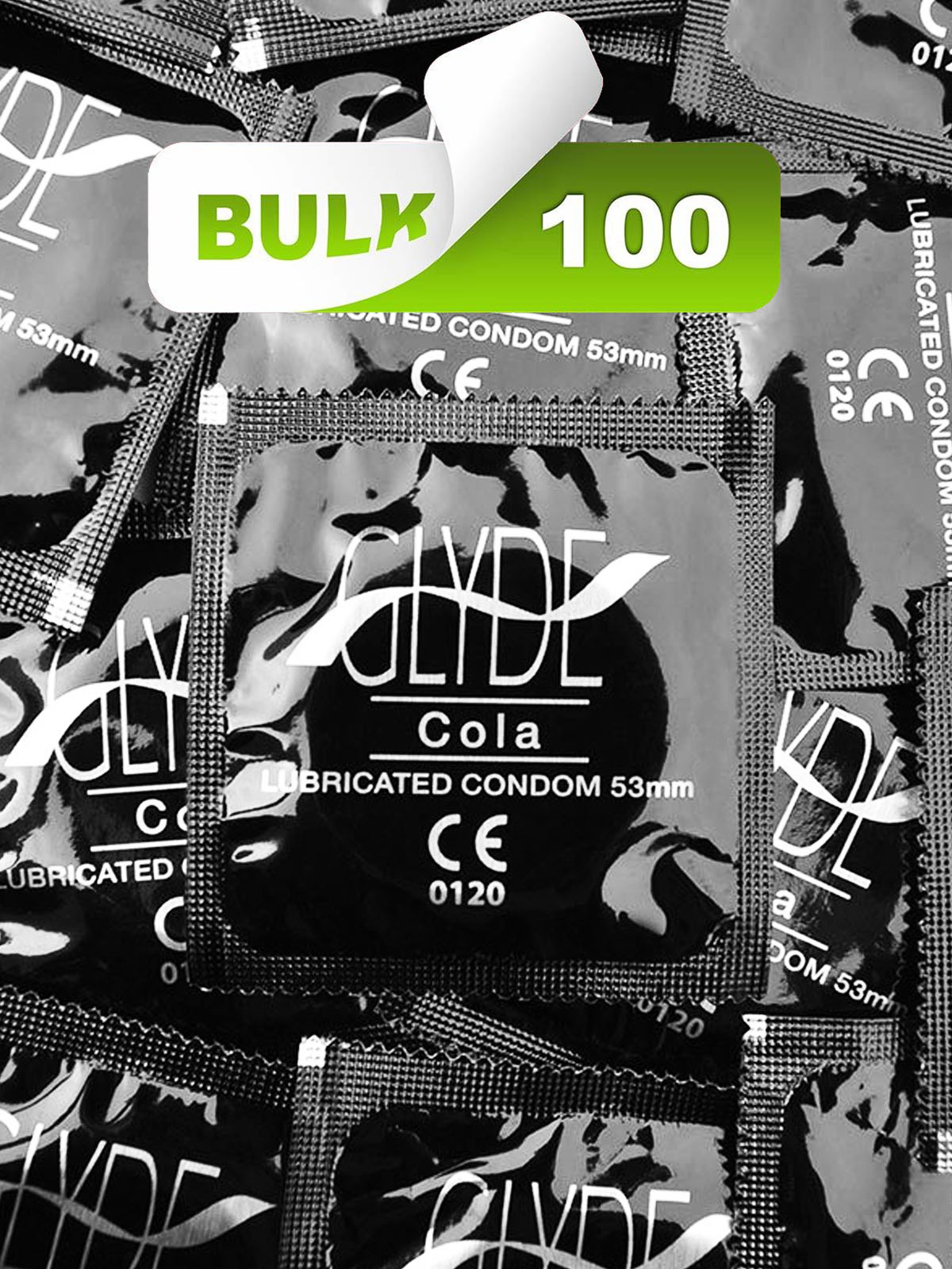 Glyde Black/Cola Condoms (100 Bulk) - Buy Bulk Condoms Online